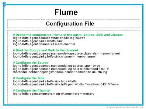 2  Configure Flume Agent to Extract Web Server Logs   00 17 14  Wiley Jigsaw Certified Big Data Spec