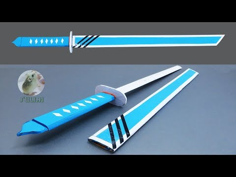 How to Make Sword from Cardboard, Popsicle Stick & Paper