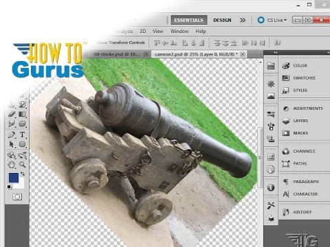 How to Rotate Image using Image Rotation Tool in Photoshop CS5 CS6 CC Tutorial