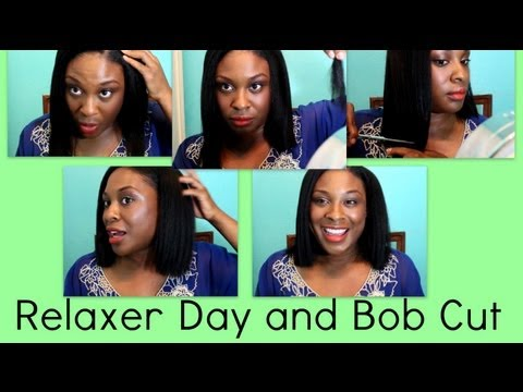 Relaxer Day and Bob Cut