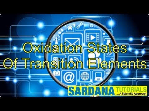 Oxidation States Of Transition Elements