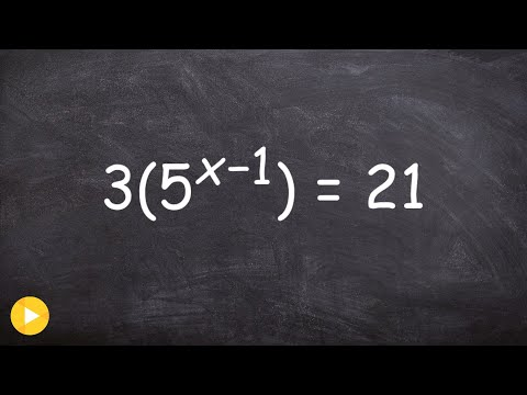 Learn to solve an exponential equation by isolating the exponent
