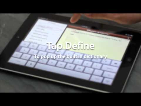 Using your new iPad: Text editing