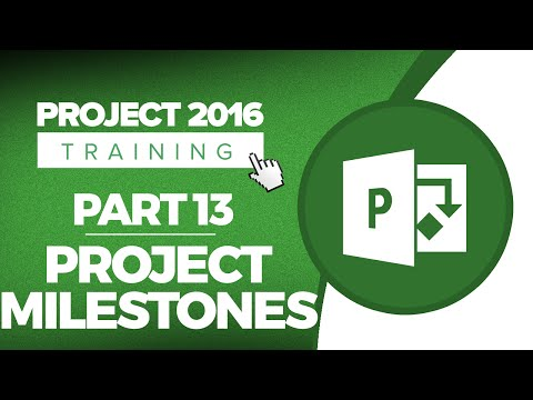 Project 2016 for Beginners Part 13: How to Set Project Milestones in MS Project 2016