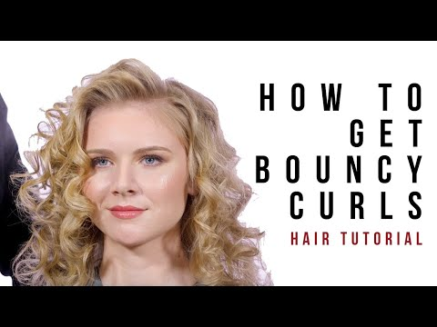 Hair Tutorial - Hair Curling Tutorial - Editorial Curls - Kerasilk Products - TheSalonGuy
