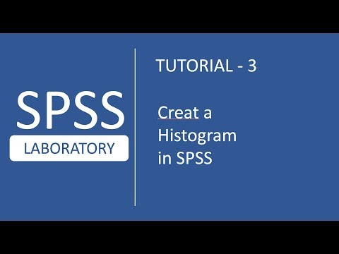 SPSS Tutorials # 3 : How to create a histogram in SPSS