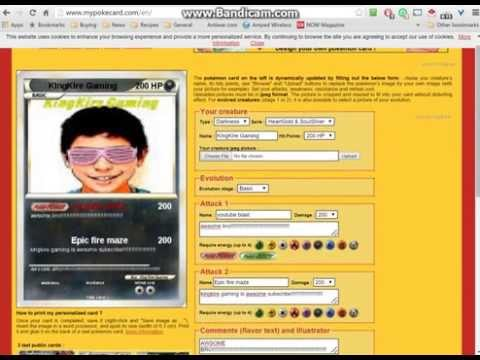 how to make your very own pokemon card online free (no download)