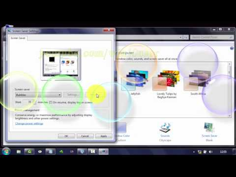 Windows 7 Tips : How to change screen saver as Bubbles