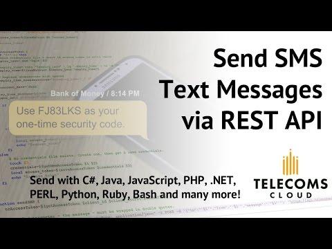 How Do I... Send SMS Text Messages via REST API? (SMS API)