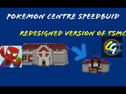 Pokemon Centre Sppedbuid (TSMC MINECRAFT'S SMALLER VERSION)