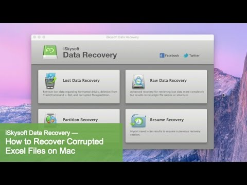 iSkysoft Data Recovery - How to Recover Corrupted Excel Files on Mac