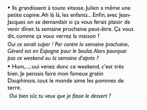 French Lesson: Invitation à diner