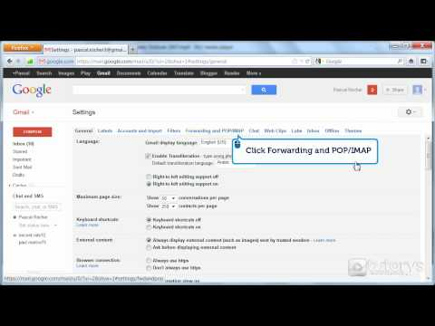 How to configure a Gmail account with IMAP access with Outlook 2007?