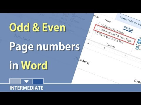 MS Word - Odd and Even Page numbers using Headers and Footers by Chris Menard
