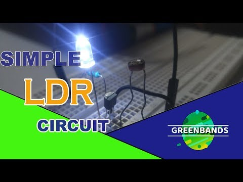 how to make simplest ldr circuit with ONLY one transistor