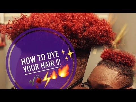 HOW TO: How I Dye My Curly Hair BURGUNDY  !!!