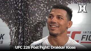 UFC 226: Lightweight Drakkar Klose On Decision Win Over Lando Vannata