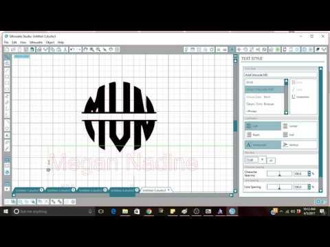 Beginner Circle Monogram- SIlhouette Studio EASY