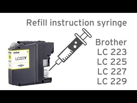 Refill Brother LC223, LC225, LC227, LC229, LC203, LC205, LC209, LC233, LC235, LC239