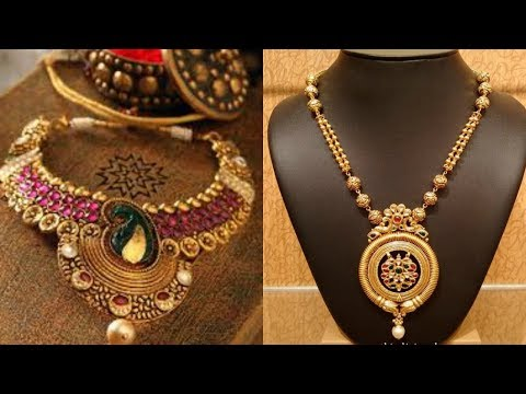 Antique Gold Jewellery Necklace Designs With Price