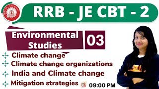 Class-03|| RRB JE CBT-2 || Environmental Studies || By Amrita Ma