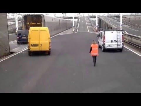 Boarding Eurotunnel train (France to UK)