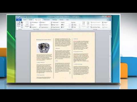 How to Make a Tri-Fold Brochure in Microsoft® Word 2007