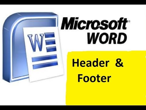 how to make header & footer in page  -ms word 2007 in hindi|| part 10