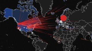 מפת התקפות סייבר - זמן אמת