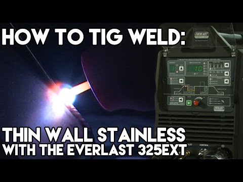 Welding Thin Wall Stainless with the Everlast 325EXT | TIG Time