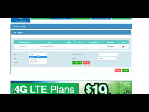 Creating Lycamobile family plan with existing customers