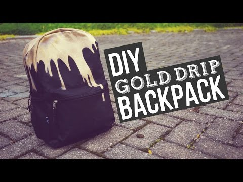 ✂ DIY Gold Drip Backpack