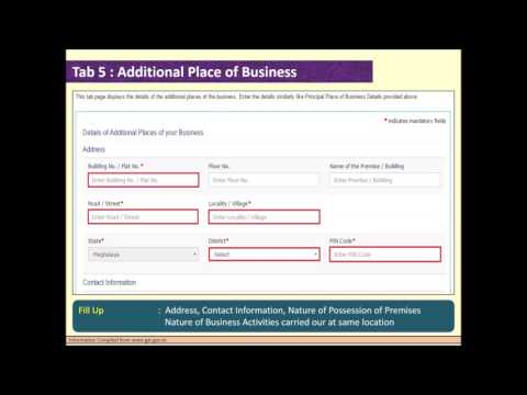 How to fill up GST enrolment form