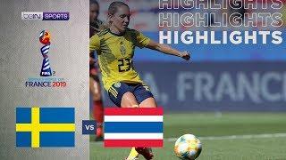 สวีเดน 5-1 ไทย   ไฮไลท์ฟุตบอลโลกหญิง