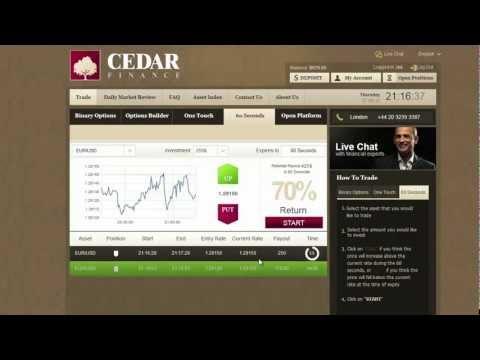 Cedar Finance - My Favorite Binary Options Broker - As Seen On TV !