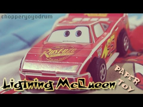 CARS Lightning McQueen Paper Toy