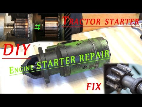 Engine [tractor] starter repair - diy fix