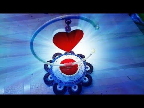 DIY Paper Heart Showpiece || How to Make a Paper Heart Showpiece