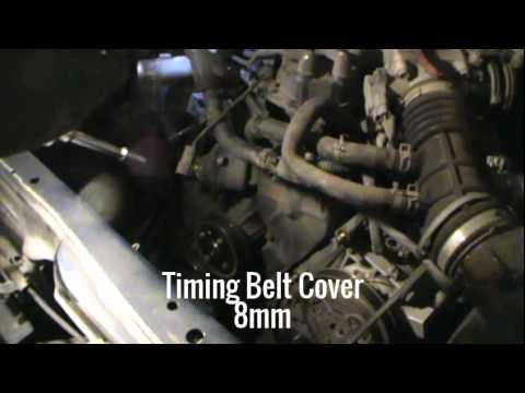 Timing Belt, Timing Belt Tensioner, Water Pump, Thermostat, 2004 Nissan Xterra 3.3L V6 Part 2