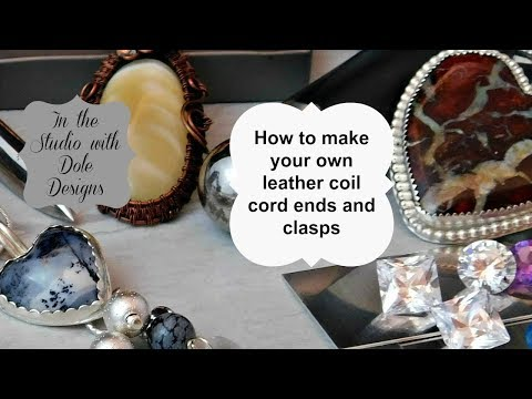 How to make your own beautiful leather cord necklace ends and clasp
