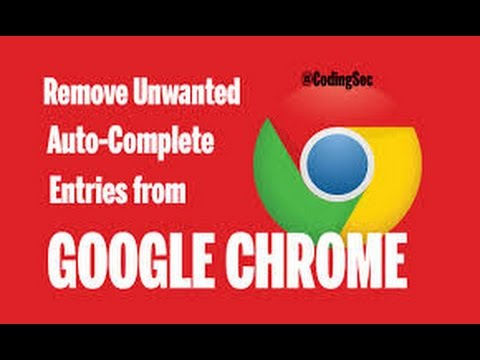 How To Delete Unwanted Auto Complete Entries from Chrome [F!R3W4LL]