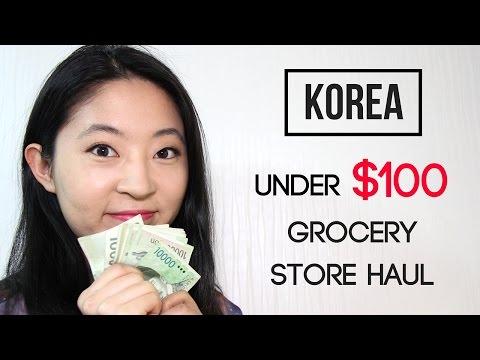 Korean Grocery Haul for Under $100 | Cost of Living in Korea