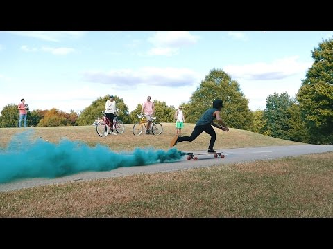Longboarding with Smoke Grenades! | Extremiti