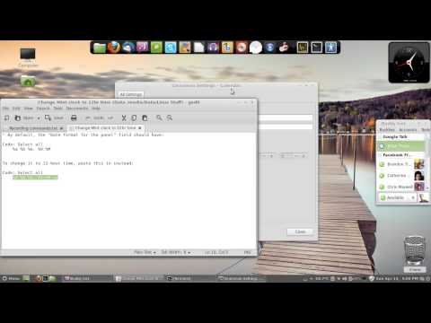 How to Change the Time in Linux Mint Cinnamon to 12HR AM/PM format.