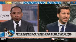 """Stephen A. Smith GRIEVANCES """"Kevin Durant lashes at media amid Knicks rumors 