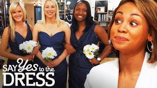 Ex-Mean Girl Gets Catty With Her Bridesmaids!   Say Yes To The Dress Bridesmaids
