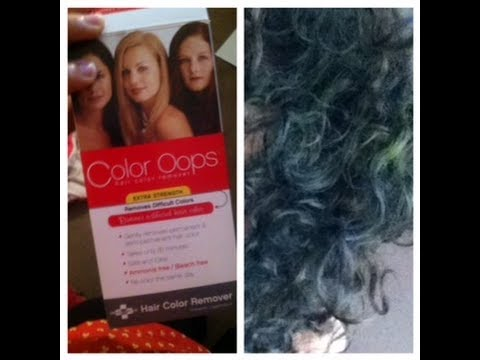 Why my hair turned green after color oops application pt2