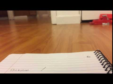 I draw a stickman in stop motion