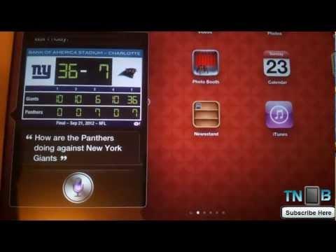 iOS 6 Siri Test on iPad 3