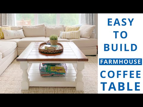 How to Build a Square Farmhouse Coffee Table DIY Project | Woodworking